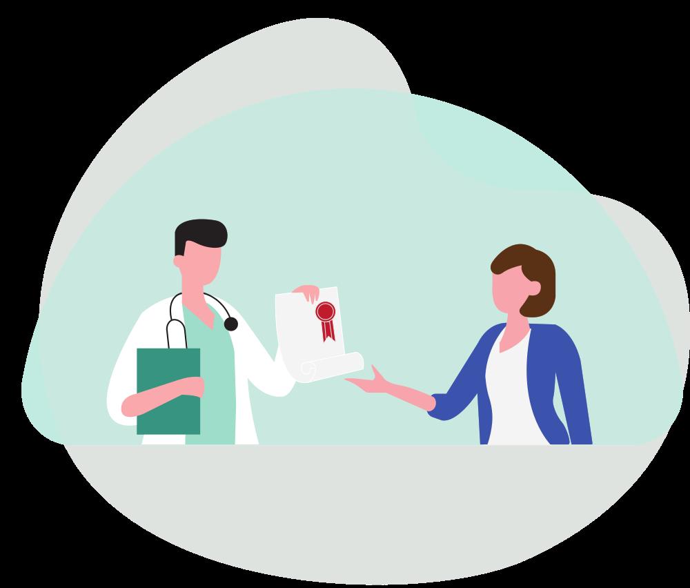 pannello benessere del paziente