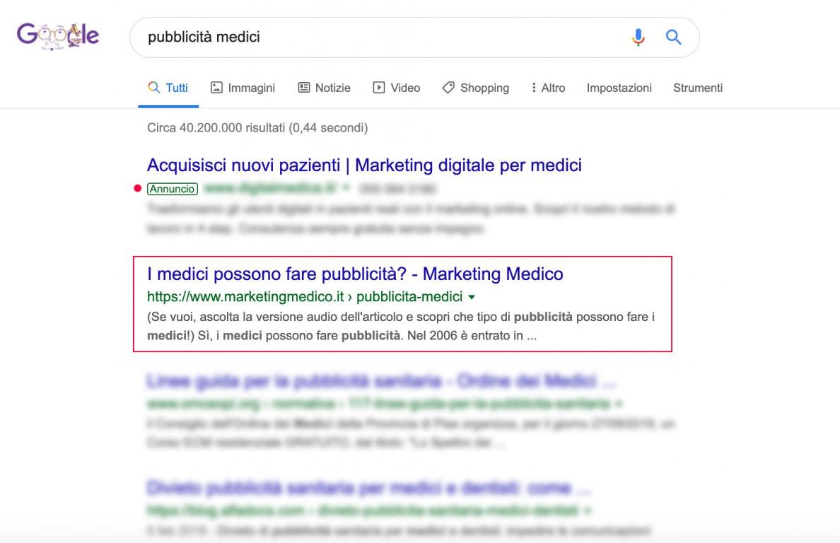 Pubblicità-Medici